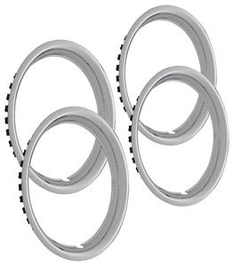 "1964-73 GTO Wheel Trim Rings, Reproduction Rally (Stainless) Round Lip 14"" X 6"" (1-5/8"" Deep)"