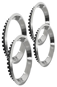 "1964-1973 GTO Wheel Trim Rings, Reproduction Rally (Stainless) Stepped Lip 14"" X 7"" (2-3/4"" Deep)"