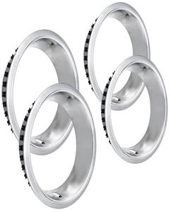 "1964-77 El Camino Wheel Trim Rings, Reproduction Stainless Rally Stepped Lip 14"" X 7"" SS (2-7/8"" Deep)"