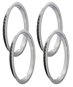 "1971-77 Chevelle Wheel Trim Rings, Reproduction Stainless Rally Oem Lip 15"" SS (1-1/4"" Deep)"