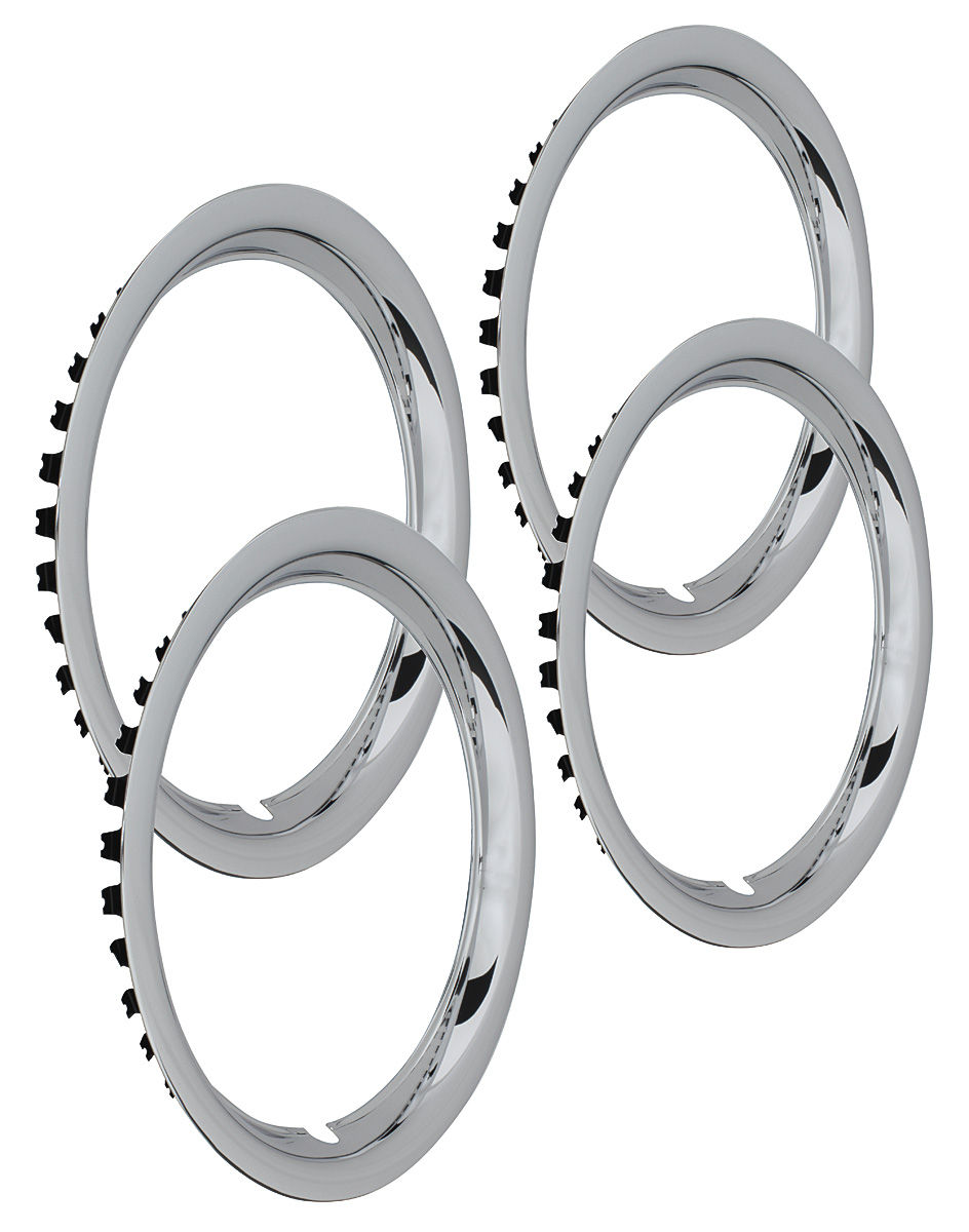 "Photo of Wheel Trim Rings, Rally (Stainless) Round Lip 15"" x 6"" (1-1/2"" deep)"