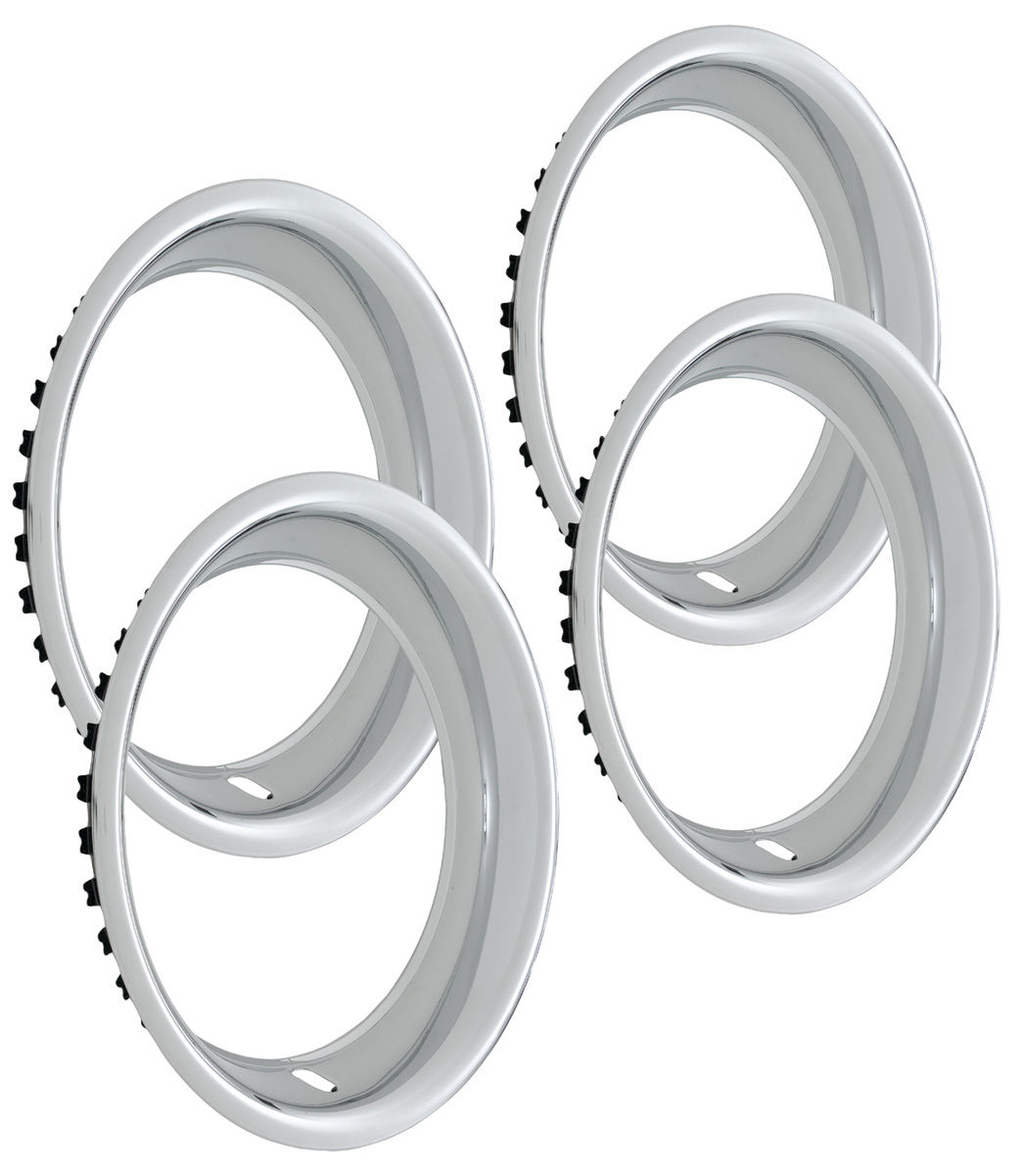 "Photo of Wheel Trim Rings, Reproduction Rally 14"" x 7"" (round lip, 2-1/4"" deep)"