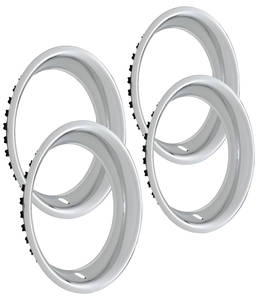 "1964-1971 Tempest Wheel Trim Rings, Reproduction Rally (Stainless) Round Lip 14"" X 7"" ( 2-1/4"" Deep)"