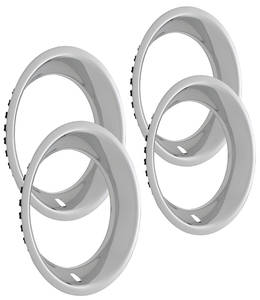 "1964-1977 Chevelle Wheel Trim Rings, Reproduction Stainless Rally Round Lip 15"" X 7"" (2-3/8"" Deep)"