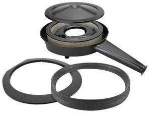 1970-72 Chevelle Air Cleaner Kit, Complete Cowl Induction w/Black Lid