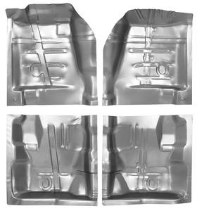 1970-1972 Monte Carlo Floor Pans, Quarter Sections (Complete Kit, Four-Piece)