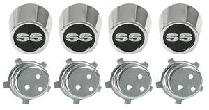 Chevelle Center Cap Kit, 1969-70 Super Sport Five-Spoke