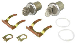 1967-1968 Grand Prix Door Lock & Keys Short Cylinders Pearhead Keys