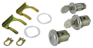 1965-1965 Catalina Lock Set: Ignition & Door Octagon Keys
