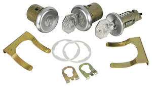 1968 Cadillac Lock Set: Ignition & Door - Short Cylinders (Octagon Head Keys)