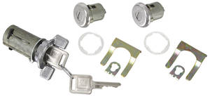 1969-70 Lock Set: Ignition & Door Bonneville/Catalina, Square Keys