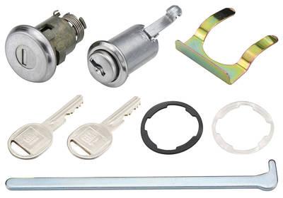 1964-65 Chevelle Lock Set; Glove Box & Trunk (Matched Keys) With Case Round Keys