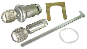 1969 Grand Prix Lock Set: Glove Box & Trunk Round Key