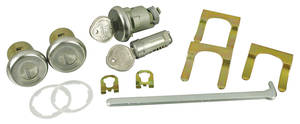 1966-67 GTO Lock Set: Door, Glove Box & Trunk Round Keys, w/Case