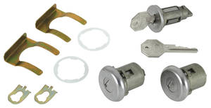 1966-1967 Chevelle Ignition & Door Lock Set Octagon Keys