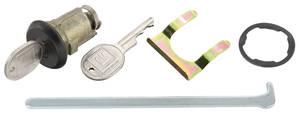1968-1977 Chevelle Trunk Locks Non-Gm Round Key, Black (Exc. Wagon)