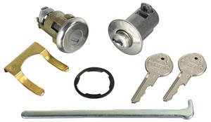 1963-1963 Skylark Lock Set: Glove Box & Trunk (Matched Keys) Pearhead Keys