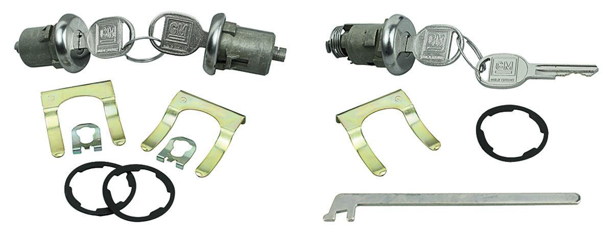Photo of Lock Set: Door & Trunk pearhead keys, w/long cylinder