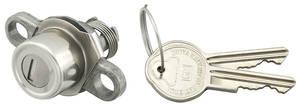 1966-67 Grand Prix Trunk Lock GM Pearhead Key, Button Style