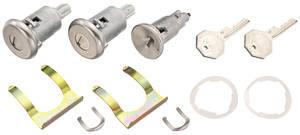 1968 Cadillac Lock Set: Ignition & Door - Long Cylinders (Octagon Head Keys)