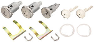 1968 Cadillac Lock Set: Ignition & Door - Long Cylinders (Octagon Head Keys)