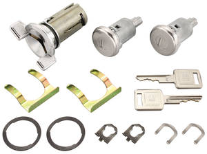 1969-70 Cadillac Lock Set: Ignition & Door - Long Cylinders (Square Head Keys)