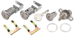 1959-60 Cadillac Lock Set; Ignition, Door & Trunk - Long Cylinders (W/Offset Pawls) (Octagon Head Keys)