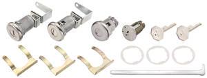 1961-63 Cadillac Lock Set; Ignition, Door & Trunk - Long Cylinders (W/Offset Pawls) (Octagon Head Keys)