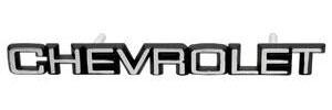 """1982-1987 El Camino Grille Emblem, 1982-87 El Camino & Malibu """"Chevrolet"""", by RESTOPARTS"""