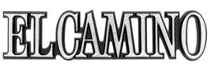 """1978-1987 El Camino Quarter Panel Emblem, 1978-87 """"El Camino"""", by RESTOPARTS"""