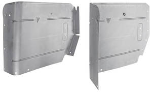 1968-72 Cutlass Armrest Panels, Convertible Rear, Upper