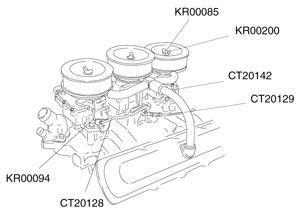 1964-1966 GTO Carburetor Linkage