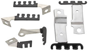 1968 Grand Prix Spark Plug Wire Brackets 6-Piece