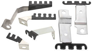 1969-1969 Grand Prix Spark Plug Wire Brackets w/AC, 6-Piece