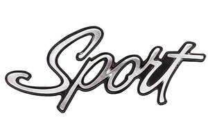 """Trunk Lid Emblem, 1968-72 LeMans """"Sport"""" w/Paint"""
