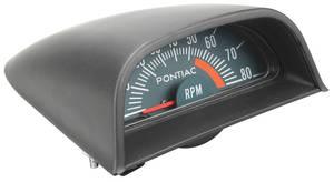 1968-69 Hood Tachometer W/5500 Redline Bonneville/Catalina