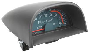1967-1967 GTO Hood Tachometer Standard GTO 5000 Redline