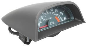 1968-1968 GTO Hood Tachometer Ohc 6 6500 Redline