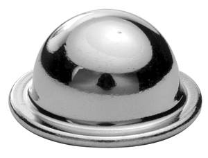 1962-1965 Bonneville Seat Chrome Hinge Pin Cover (Bucket), by RESTOPARTS