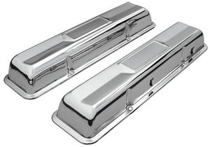 1964-1967 Chevelle Valve Covers, 1964-67 Original Sixties Style Chrome