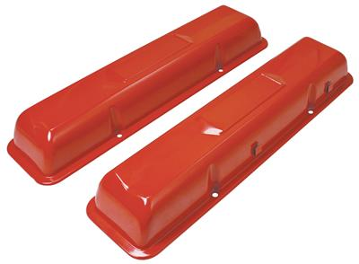1978-88 Malibu Valve Covers, Original Sixties-Style (Small-Block) Painted Orange