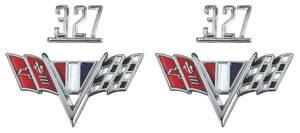 """1965-1967 El Camino Fender Emblem Kit, 1965-67 """"327"""""""