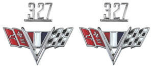 "Chevelle Fender Emblem Kit, 1965-67 ""327"""