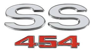 "El Camino Tailgate Emblem, 1970-72 ""Super Sport 454"", by RESTOPARTS"