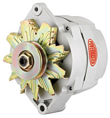 1954-1976 Cadillac Alternator, Performance - 10si (85-Amp, Internal Regulator) with Natural Finish, by POWERMASTER