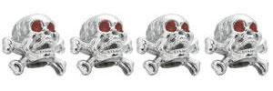 Valve Stem Caps Skull w/Crossbones