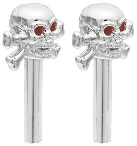 Hot Rod Accessory Door Lock Knobs (Skulls with Crossbones)