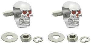 1964-1977 Chevelle Hot Rod Accessory License Plate Fasteners (Skulls)