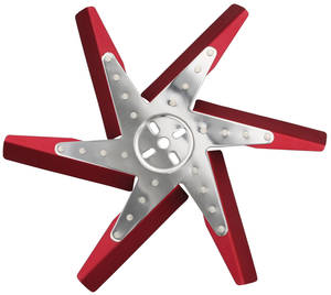 1959-77 Bonneville Flex Fan, High-Performance Red