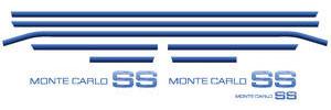 1983-1984 Monte Carlo Body Stripe Kit, 1983-84 Monte Carlo SS Light Blue/Medium Blue/Dark Blue, by Phoenix Graphix